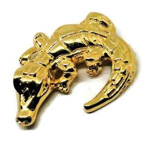 New ST. JOHN Brilliant Large Alligator Brooch Pin
